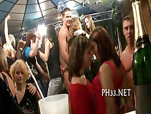 Picture Tons Of Group Sex On Dance Floor