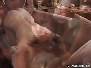 Picture Brunette MILF Gets Fucked While Sucking Cock