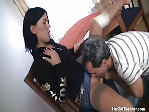 Picture Hot Young Brunette Only Wants Old Cocks
