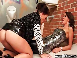 Two Horny Lesbians Go...