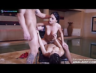 Aida Sweet and her best friend awesome threesome sex at the pool