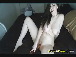 Busty Camgirl Insert Huge...