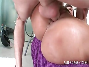 Picture Slutty MILF In Huge Boobs Sucks And Fucks Gi...