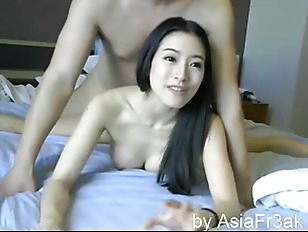 Chinese Couple Fuck On Bed