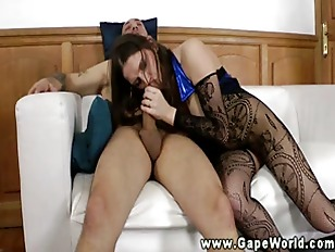 Picture Horny Babe Gaping Assfucked And Gives Head S...