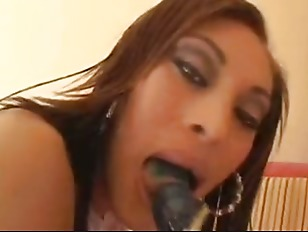 Ebony interracial blowjob