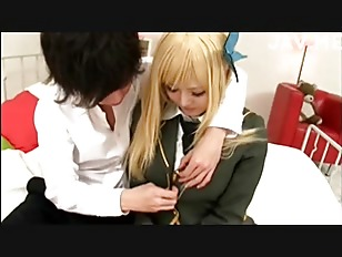 Picture Cutie Blonde Japanese Young Girl 18+