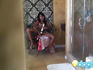Picture Sneaky Hidden Cam Finds Amber Dildoing Her D...
