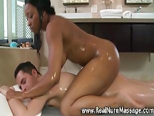 Nuru Masseuse Giving Soapy...