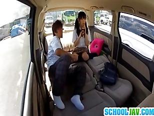 Japanese car sex porn