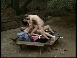 Anna Malle Picnic Threesome...