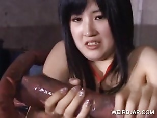 Asian Cutie Getting Wrapped...