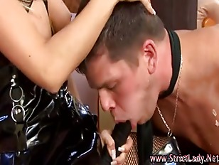 Mistress Relishes Head Gag...