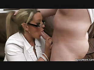 Working Blonde Bbw In...