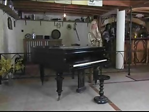 Satin piano lesson lesbian milf