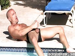 Muscular Jock Brodie Strokes...