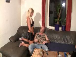 German Slut Drinks His...