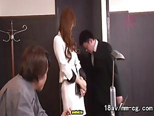 Japanese cougar likes to bang at work