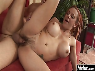 Her big boobs bounce while they fuck