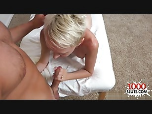 Horny Blonde Pussy Gagging...