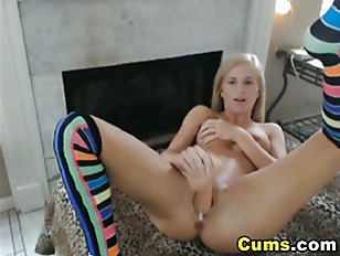 Picture Blonde Slut Fucks Her Wet Pussy With Dildo