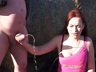Picture Redhead Gets Plowed In The Field By Bails Of...