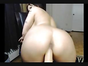 Picture Brunette Big Boobs Hottie Ride On Dildo