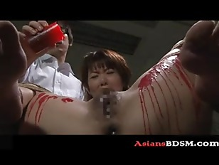 Picture Horny Asian Hottie Covered In Wax