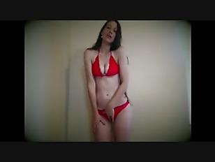 Slim brunette in bikini