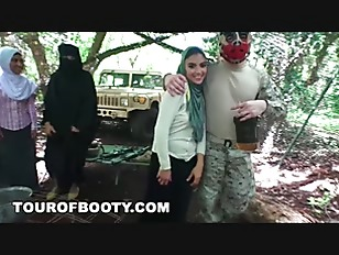 TOUR OF BOOTY - Fresh Arab Pussy For These Horny American Soldiers