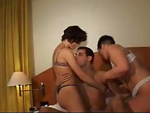Husband And Wife Enjoy A Threesome