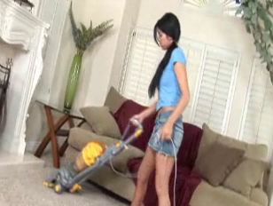 Cody Lane Doing Housework...