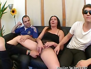 French Housewife Barbara Gangbanged...