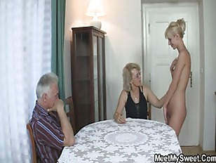 Picture His GF And Parents In Hot Threesome