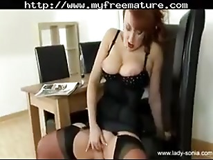 Picture Lady Sonia Spike Heel Masturbation