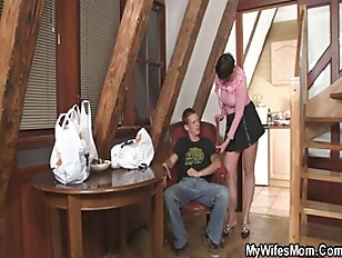 Picture Naughty Mother In Law Jumps On His Cock