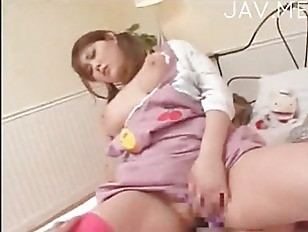 Busty jap babe ride...