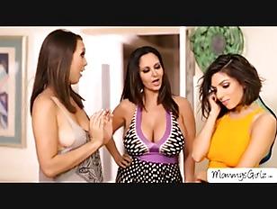 Beautiful horny women in hot trio lesbian pussy play