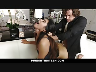 PunishTeens - Secretary Learns A Lesson For Stealing