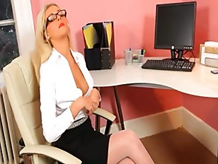 Picture Secretary In Sexy Stocking Teasing Alone