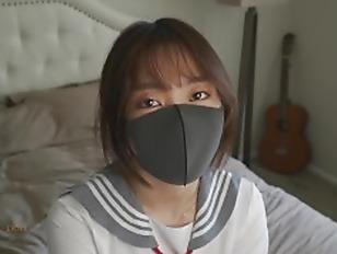 Fuck a horny Chinese school girl wearing a JK uniform after interviewing