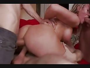 BDSM gangbang with hot blonde cougar