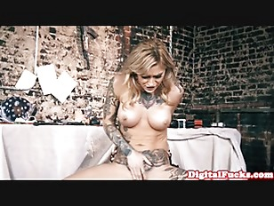 Bigtitted Inked Pornstar Babe...