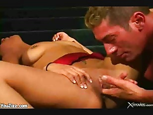 Absolutely gorgeous brunette takes a big cock then laps up a cumshot off the window