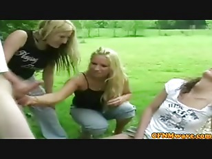 Picture Femdom CFNM Sluts Outdoor Wanking Dick