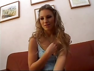 Stunning blonde teen loves the cock