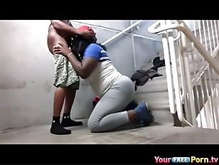 Ghetto Public Staircase Sextape...