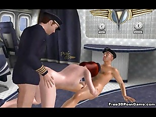 Two Horny Pilots Double...