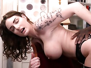 MARIE CLARENCE In Black Stockings Gets Fucking Hard