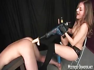 Picture Mistress Lydia Tortures A Huge Cock Then Ram...